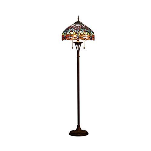 EIU vloerlamp landelijke retro kunst-geglazuurde oogbescherming afstandsbediening lamp, hoge verticale lamp in de woonkamer slaapkamer cafe M20-03-07