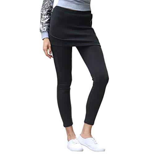 Legging Damen ABsoar Lässig Sporthose Yogahosen Traininghose Sportlichen Hose Wild Slim Fit Leggings Rock Zweiteiler Einteiler Leggings für Frauen
