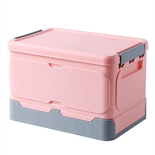 YUX Caja de Almacenamiento, Caja de Almacenamiento Plegable con Tapa, Caja de Almacenamiento de Libros, Exterior/Foto/Accesorios/Estudiante/Familia (Trompeta Rosa)