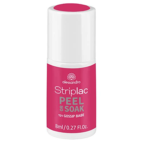 alessandro Striplac Peel or Soak Gossip Babe – LED-Nagellack in frischem Pink – Für perfekte Nägel in 15 Minuten – 1 x 8ml