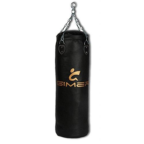 GIMER Saco de boxeo para adultos, unisex, Unisex adulto, Arti Marziali, negro