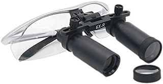 ZHULAOGONG Magnifier Dental Surgical Medical Binocular Loupes 6 X 360-420mm Optical Glass Loupes Frame Binocular High Magnifiers for Brain Cardiac Surgery Fauay