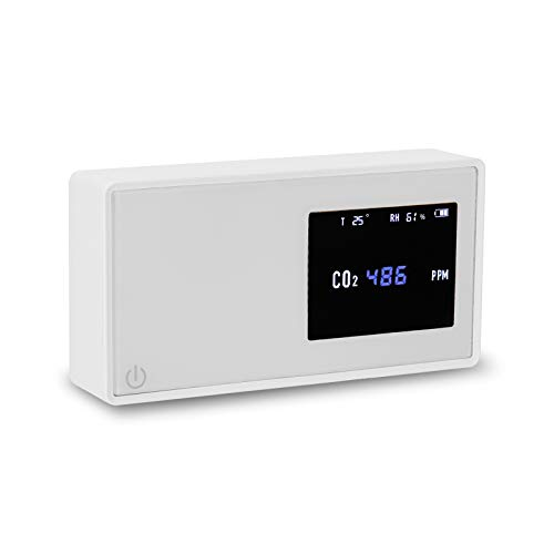 Kecheer Medidor dioxido carbono detector,Medidor co2/humedad/temperatura,Detector co2 portátil con termómetro/higrómetro