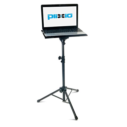 """Plixio Adjustable Laptop Projector Stand - Portable Podium Tripod Mount, DJ Mixer Stand Up Desk Computer Stand Tray and Holder (27"""" to 48"""") Arkansas"""