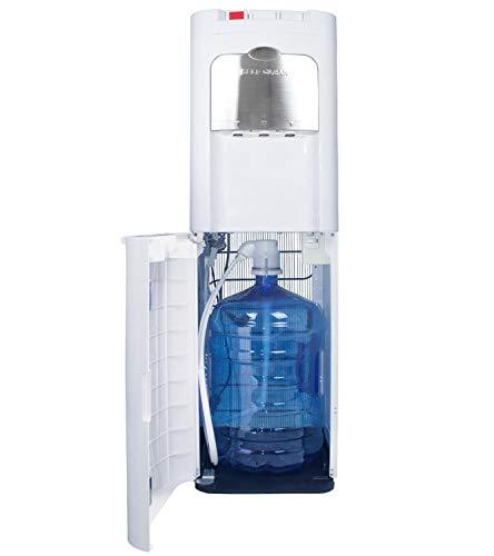 HODS HOME OFFICE DELIVERY SERVICES Dispensador de Agua de botellón. Carga Inferior. Color Blanco. Agua fría, Caliente y Natural, con Sistema Auto-higienizante de Ozono