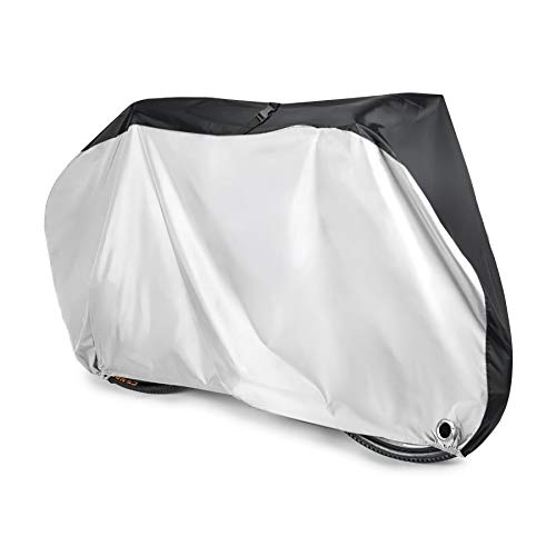Aival Bike Cover, Bicycle Cover, 190T Nylon Waterproof Anti Dust Rain UV Protection for Mountain Bike, Road Bike with Lock-holes, Storage Bag