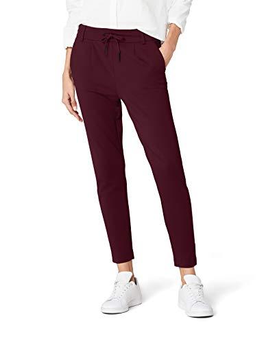 ONLY Damen Onlpoptrash Easy Colour Pant Pnt Noos Hose, Rot (Port Royale), L/L34