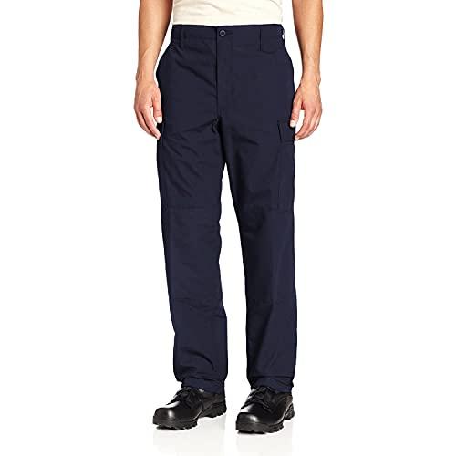 Propper Men's BDU Trouser – Button Fly - 65/35 Ripstop, Dark Navy, Small Regular