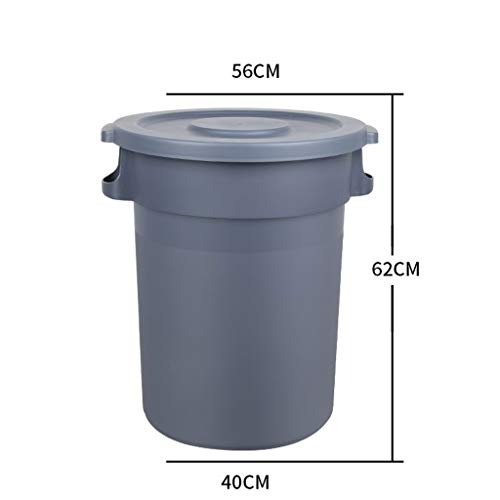 Great Deal! LXF Outdoor Waste Bins Plastic Sanitation Trash can with Wheel Storage bin Trash can 80L...