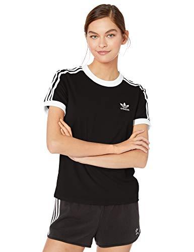 adidas Originals,womens,3-Stripes Tee,Black,XX-Small