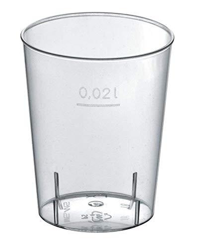 Gastro-Bedarf-Gutheil 1000 Einweg Schnapsgläser 2 cl Trinkbecher Stamperl Medizinbecher Plastikbecher Schnapsbecher Shotgläser für Shots Pinnchen recycelbar