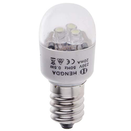 chiwanji Bombilla LED 0.5W, 220V, Aluminio para Singer Feiyue Acme Y Otras Máquinas de Coser Domésticas