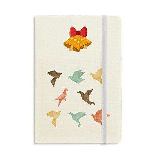 Pájaro colorido abstracto Origami patrón cuaderno diario con jingling Bell