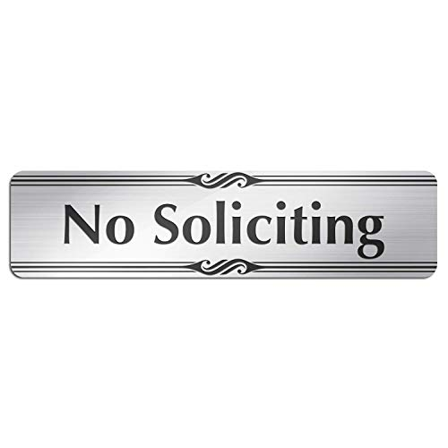"""No Soliciting Sign for House or Business, Laser Engraved, Indoor and Outdoor Use, 2' x 8"""" by My Sign Center, A85-02"""