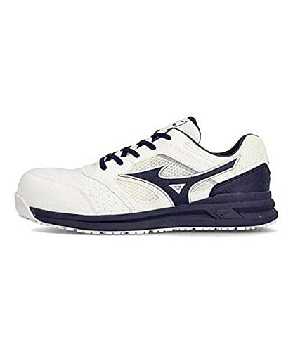 [ミズノ] メンズ プロテクティブ スニーカー 作業靴 オールマイティLS211L つま先保護芯 軽量 3E 幅広 カジュアル ウォーキング ALMIGHTY LS 2 11L F1GA2100 ホワイト/ネイビー 28.0cm