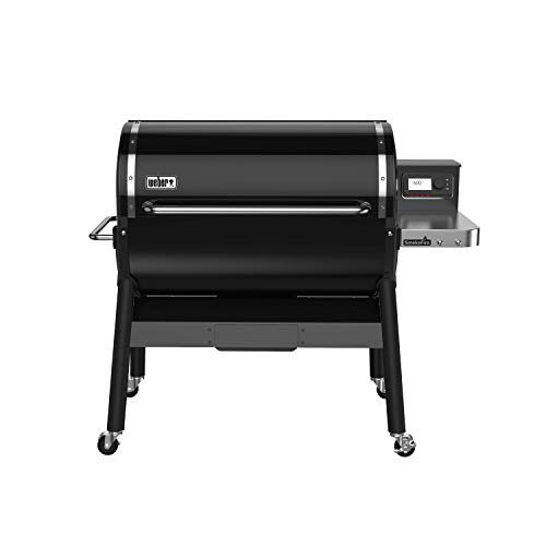 Weber 23510001 SmokeFire EX6 Wood Fired Pellet Grill, Black