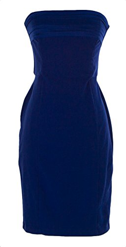 Fornarina Women's Byon Strapless Cocktail Dress Sz Small China Blue
