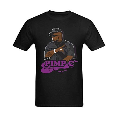 Ashirt Herren Chad Pimp C Butler Malerei Design T-Shirt BlackX-Large