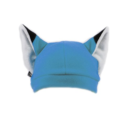 Pawstar Fleece Fox Ears Beanie Hat - Turquoise