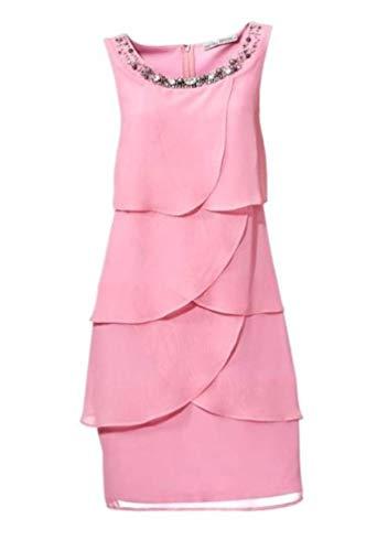 Ashley Brooke Damen Designer-Cocktailkleid, rosé, Größe:38