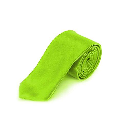 schmale Krawatte, Farbe wählbar (Neon Grün)