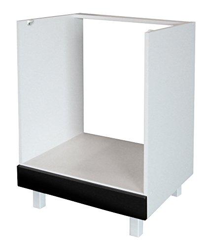 Berlenus CF6BN - Mueble bajo de Cocina para el Horno (60 cm), Color Negro Brillante