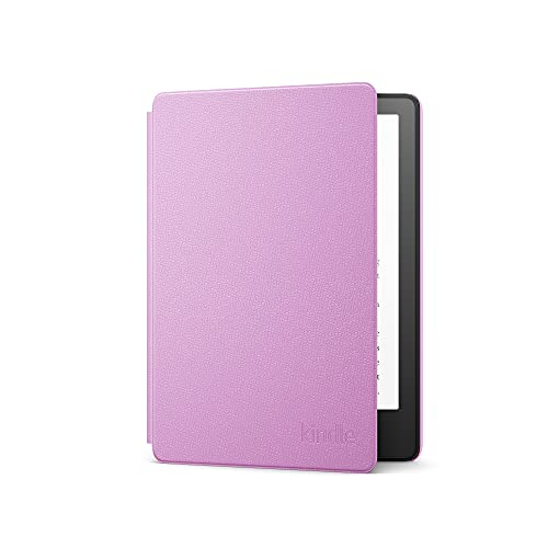 Capa de couro para Novo Kindle Paperwhite (11ª geração - 2021) - Cor Lavanda
