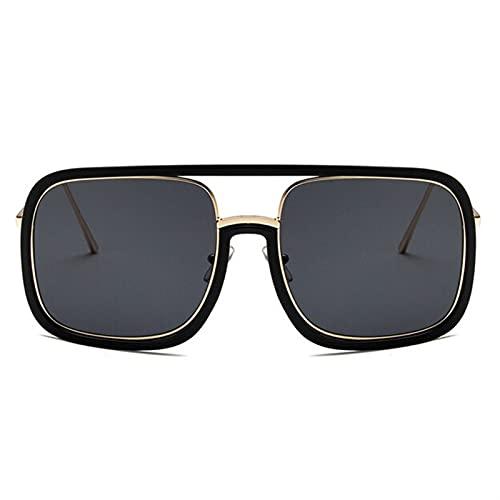 Gafas de sol cuadradas de gran tamaño de lujo Mujeres retro diseñador de marca Galsees transparentes para hombres damas gafas de gafas Sol para caras pequeñas Hombres de protección UV baratos