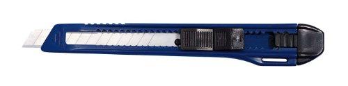 Wedo 78009 Cutter Ecoline 9 mm, feststellbare Klinge, Schieberaster, Abbrechhilfe, ABS Kunststoffgehäuse, blau