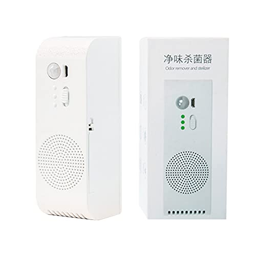 Air Purifier with Intelligent Infrared Sensor Deodorization, USB Rechargeable Negative Ion Deodorizer Noise Cancelling Odor Eliminator Air Cleaner Disinfection for Home Bathroom Pet Kitchen