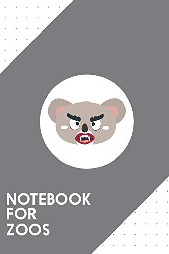 Notebook for Zoos: Dotted Journal with Koala vampire head Design - Cool Gift for a friend or family who loves wild presents! | 6x9' | 180 White dotted ... Brainstorming, Journaling or as a Diary