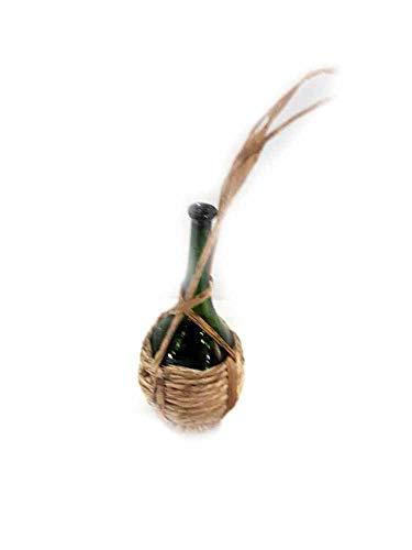 genérico 1fracaso Botella damajuana–de paja Cristal Alta 6cm miniatura para pastores belén...