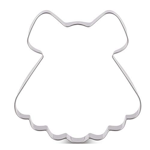 KENIAO Baby Douche Prinses Jurk Cookie Cutter - 4 x 4.2 inch - RVS