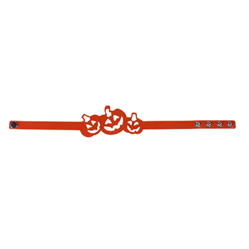 Abaodam Collar de calabaza hueco de cuero de Halloween Gargantilla de moda de fiesta de baile colgante único clavícula encanto joyería (naranja)