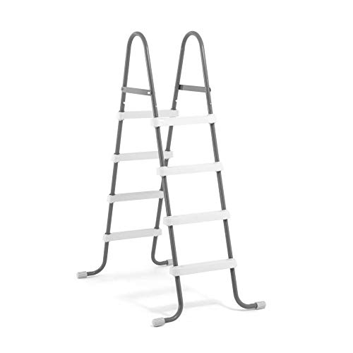 Intex Steel Frame Above Ground Swimming Pool Ladder for 48 Inch High Wall Pools