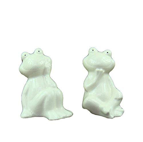 Estatua Adornos Esculturas Estatuilla Estatuilla de Animales Adornos Porcelana Rana Pareja Miniatura Decorativa Cerámica Amantes Estatuilla Novedad Arte y artesanía Adornos Accesorios Mobili