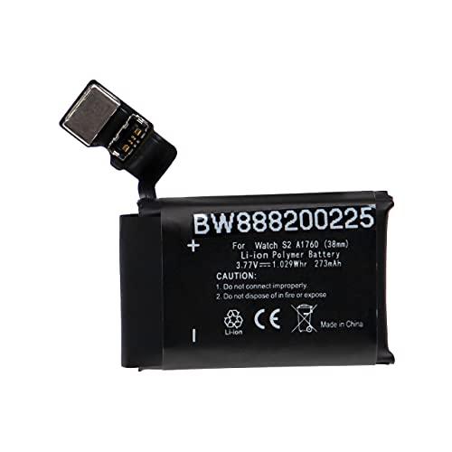 vhbw Batería Recargable Compatible con Apple Watch A1817 smartwatch, Reloj de Actividad (273 mAh, 3.77 V, polímero de Litio)
