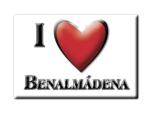 Enjoymagnets BENALMÁDENA (MA) Souvenir IMANES DE Nevera ESPAÑA ANDALUCÍA IMAN Fridge Magnet Corazon I Love