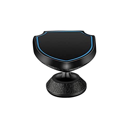 WWWL Soporte Movil Coche, Shield Forma magnética 360 ° Soporte de teléfono Giratorio Tablero de Tablero de Instrumentos del Tablero de teléfono magnético Soporte (Color : Black)
