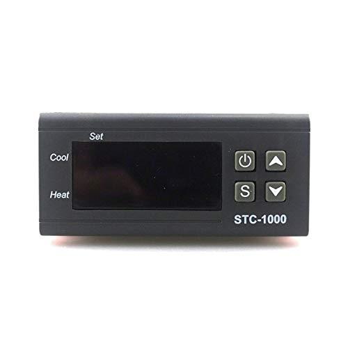 QiKun-Home 12 V STC-1000 Digital Termostato Incubadora Controlador de Temperatura Dos Relés Salida LED 110 V 220 V 12 V 24 V 10 A Calor Negro Frío 220 V