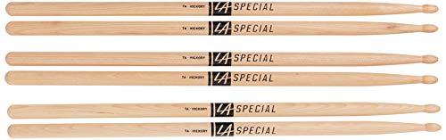 Baquetas para Baterías LA Special 7A. Nogal americano. Punta ovalada de madera. Tres pares