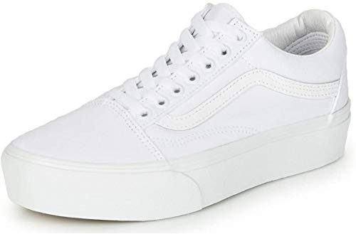 Vans Old Skool Platform True White Men's 9, Women's 10.5