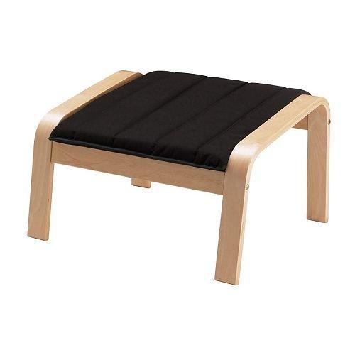 IKEA(イケア) POANG フットスツール バーチ材突き板 アルメ ブラック