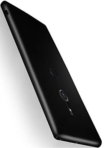 moex® Funda Trasera [Ultrafina] Compatible con Sony Xperia XZ2 | Metálico Mate Noir