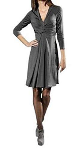 Patrizia Dini Jerseykleid Kleid Farbe Grau Gr. 34