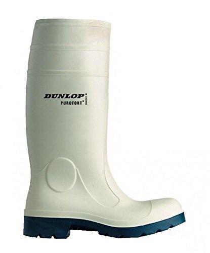 Dunlop Dunlop FoodPro Purofort Gummie-, Arbeits-, Metzgerstiefel weiß mit Stahlkappe, Schuhgröße:39