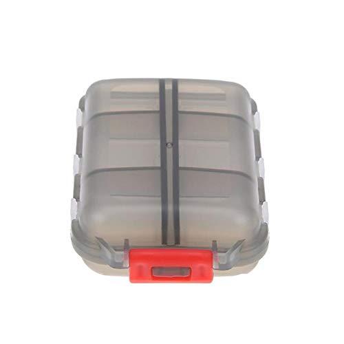 Preisvergleich Produktbild Pillenplaner Reise Praktische Medizin Pill Box 12 Grids pillenbox Pille-Organisator Tablet Pillbox-Kasten-Behälter Drug Divider Speicherorganisator (Color : Gray)