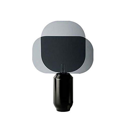 NoNo Metall Schwarz Passagier Tischlampe Nachttischlampe, Harz + Acryl, LED Tischleuchte Mit Guten Optischen Eigenschaften, Wärmeisolierung, Geeignet Für Wohnzimmer/Studie/Schlafzimmer