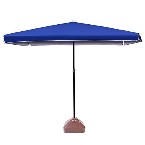 ZJM-umbrella Parasols Parapluie de Patio Léger Parapluie Déporté Coupe-Vent avec Base 30L, Parapluie Extérieur Carré de 6,6 Pieds pour Oasis D arrière-Cour (Color : Blue)