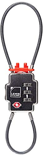 Lewis N Clark Triple Security Lock: TSA Luggage Locks for Suitcases, Carry On, Laptop Bag & More, Set Combination Lock to Create Secure Padlock for Travel, Vacation, Business, or Backpacking